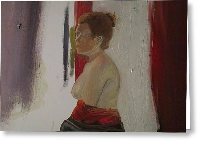 Figure Painting Greeting Card by Amber Whiteman