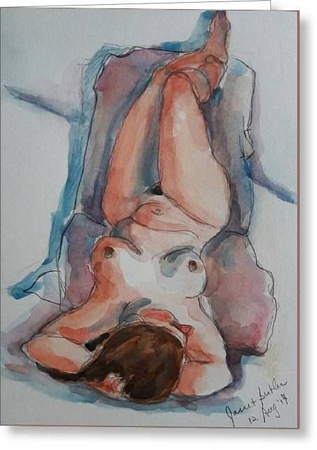 Figure Study  Greeting Card by Janet Butler