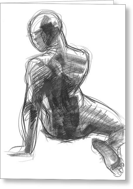 Figure Study Of The Back Greeting Card