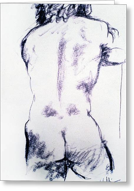Figure Study One Greeting Card by Scott Wallin