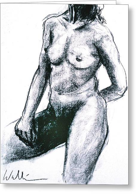 Figure Study Two Greeting Card by Scott Wallin