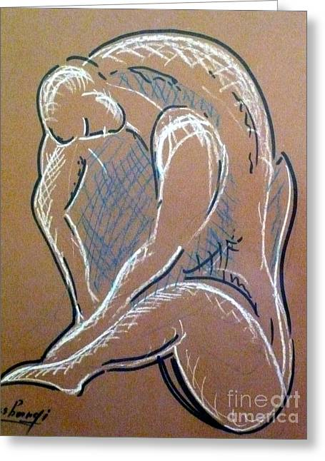 Figure Greeting Card by Ushangi Kumelashvili