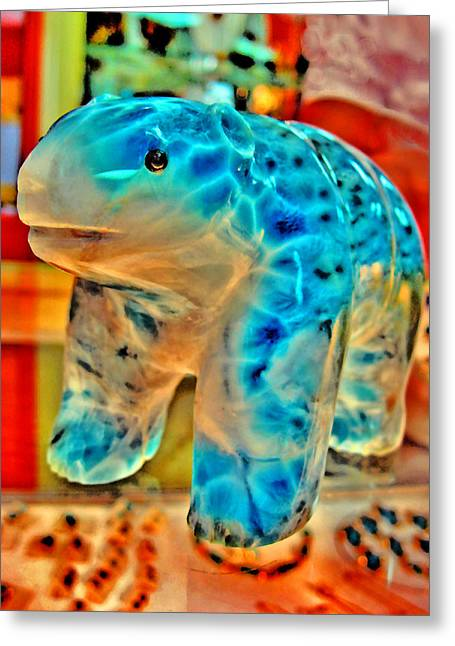 Figurine. Larimar. Dominican Republic.  Greeting Card by Andy Za