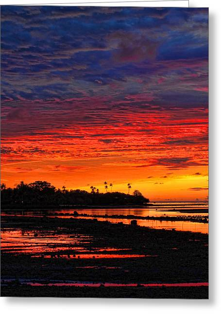 Fiji Sunrise Greeting Card