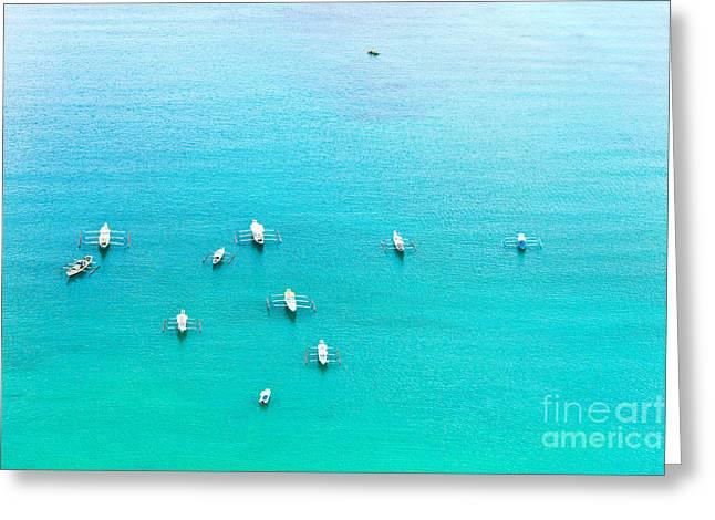 Filipino Boats Greeting Card by MotHaiBaPhoto Prints