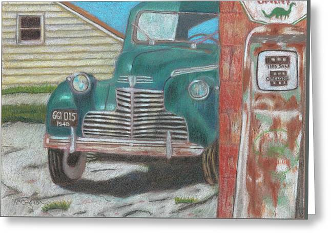 Fill 'er Up Greeting Card by Arlene Crafton