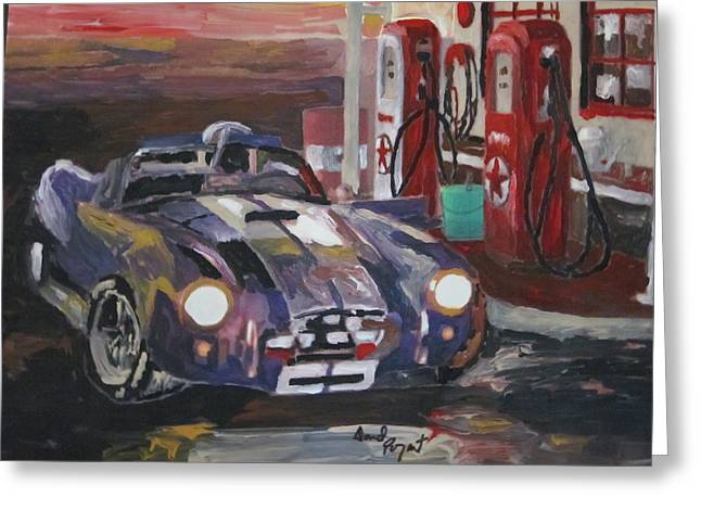 Fill Er Up Greeting Card by David Poyant Paintings