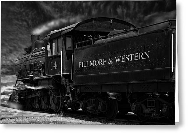 Fillmore-western Steam Train Greeting Card by William Havle