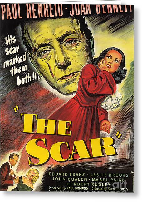 Film Noir Poster  The Scar Greeting Card