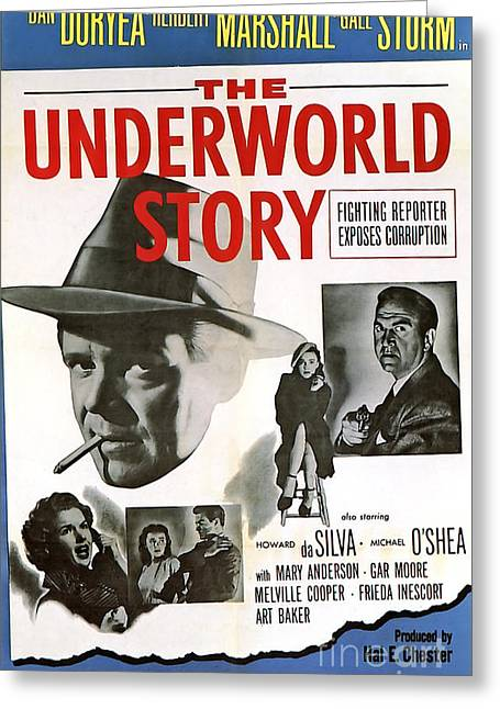 Film Noir Poster   The Underworld Story Greeting Card