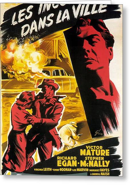 Film Noir Poster   Violent Saturday Greeting Card by R Muirhead Art