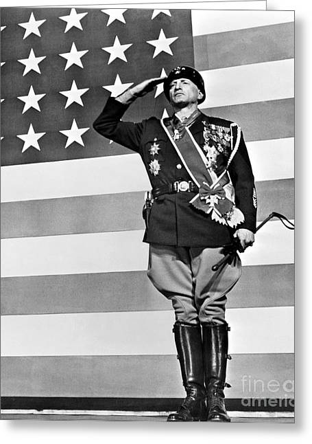 Film: Patton, 1970 Greeting Card by Granger