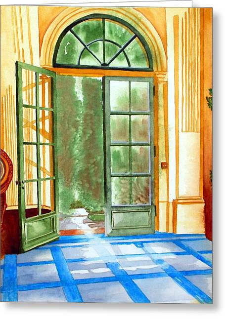 Filoli Tea House Greeting Card by Gerald Carpenter
