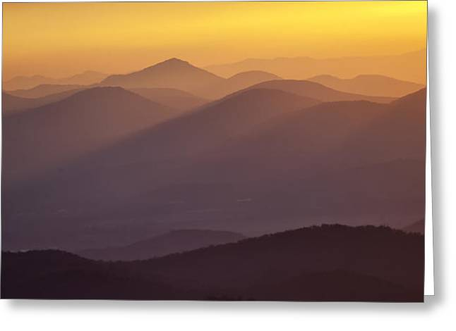 Filtered Light On The Blue Ridge Parkway Greeting Card by Rob Travis