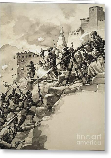 Final Assault On Tibet Greeting Card
