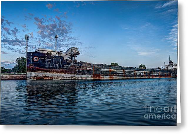 Final Mooring For The Algoma Transfer Greeting Card