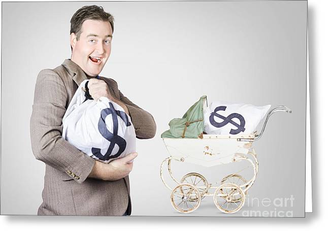 Finance And Money Growth Concept Greeting Card