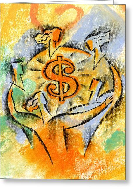 Financial Success Greeting Card by Leon Zernitsky