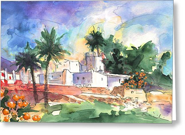 Finca In Nijar Greeting Card by Miki De Goodaboom
