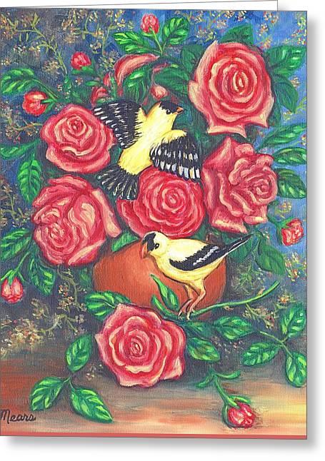 Finch Fancy Greeting Card by Linda Mears