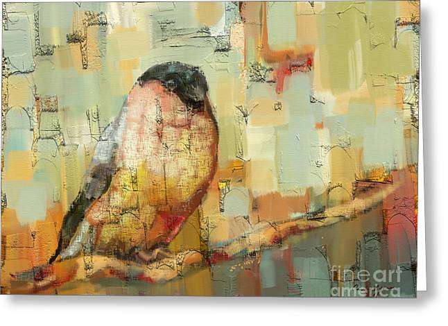 Finch Tapestry Greeting Card