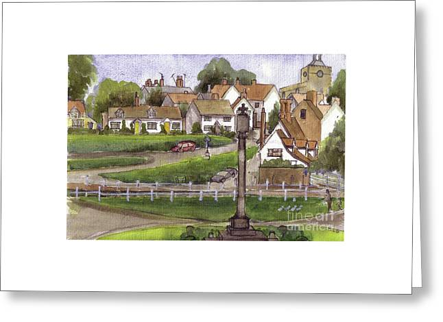 Finchingfield Essex Uk Greeting Card by Dianne Green