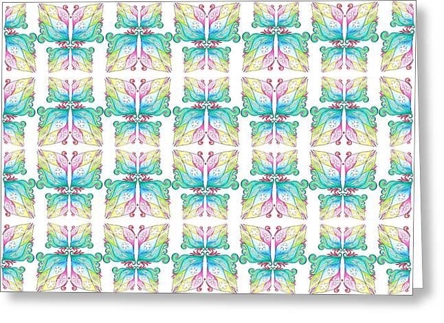 Find A Butterfly Pattern Greeting Card by Irina Sztukowski