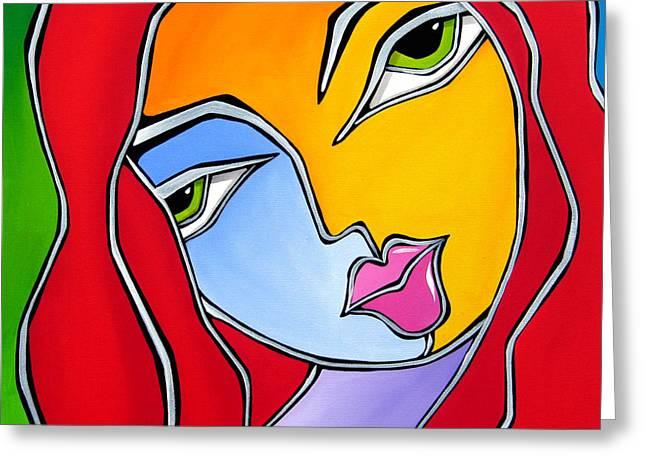 Find A Way - Original Abstract Art By Fidostudio Greeting Card by Tom Fedro - Fidostudio