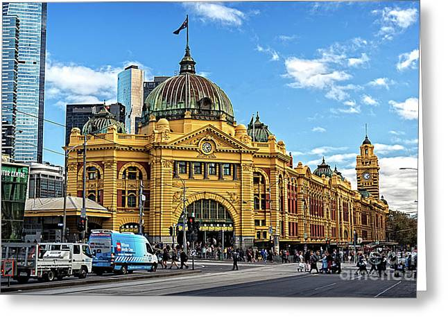 Flinders Station Greeting Card