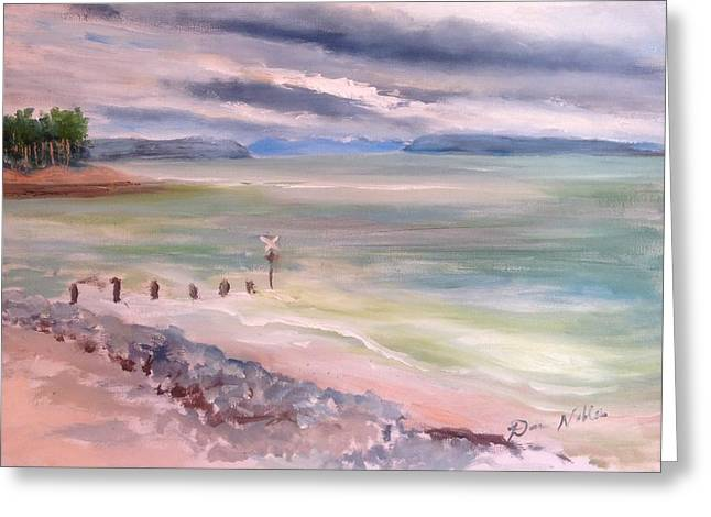 Findhorn Bay Greeting Card by Dawn Noble