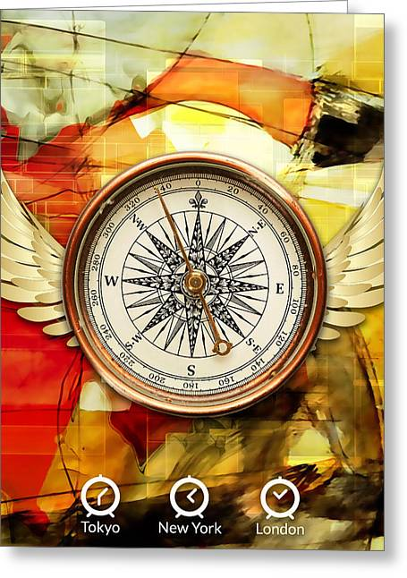 Greeting Card featuring the mixed media Finding Direction by Marvin Blaine