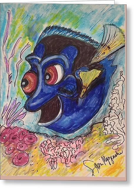 Finding Dory Greeting Card by Geraldine Myszenski