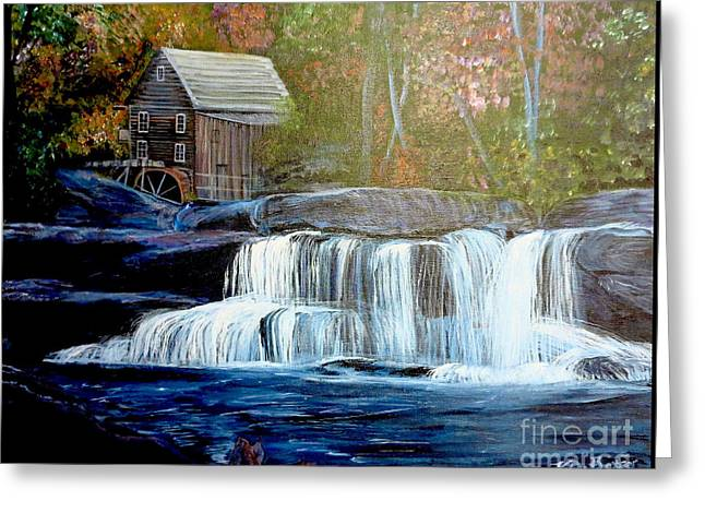 Finding The Living Waters Original Greeting Card by Kimberlee Baxter