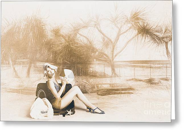 Fine Art Beach Pinup Greeting Card