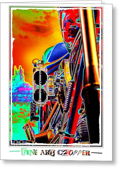 Fine Art Chopper I Greeting Card by Mike McGlothlen