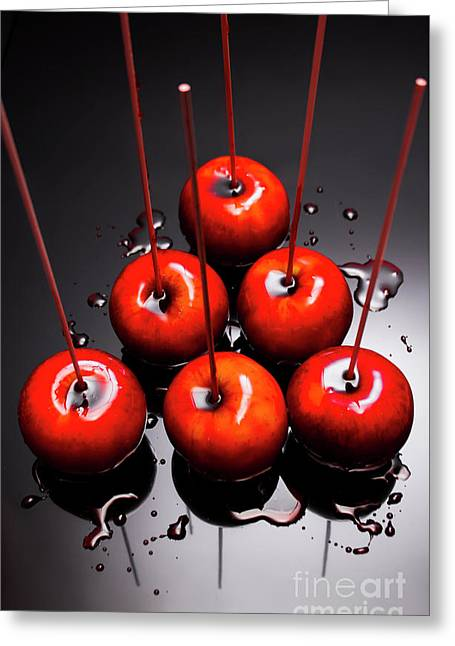 Fine Art Toffee Apple Dessert Greeting Card