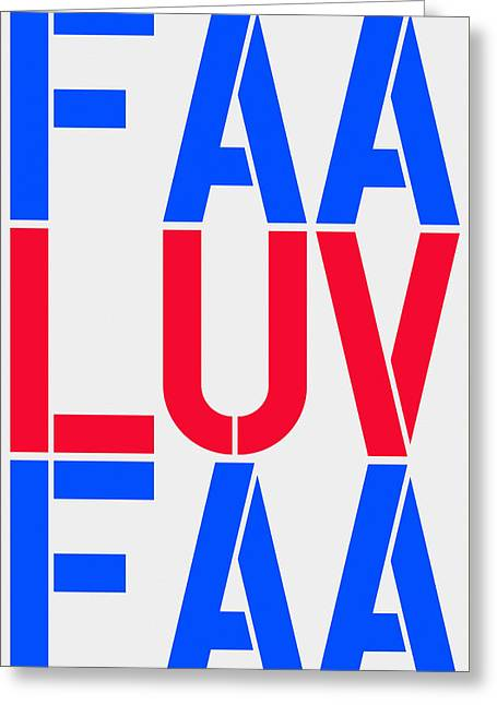 Fineartamerica Luv Greeting Card by Three Dots
