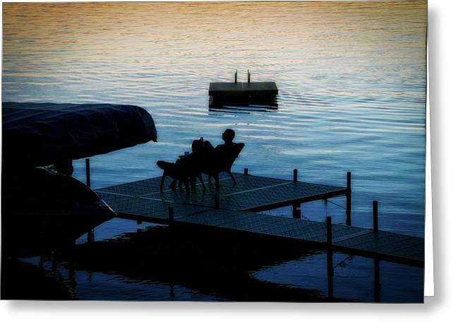 Finger Lakes New York Enjoying The Sunset 01 Greeting Card by Thomas Woolworth