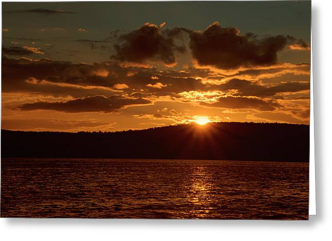 Finger Lakes New York Sunset 01 Greeting Card by Thomas Woolworth