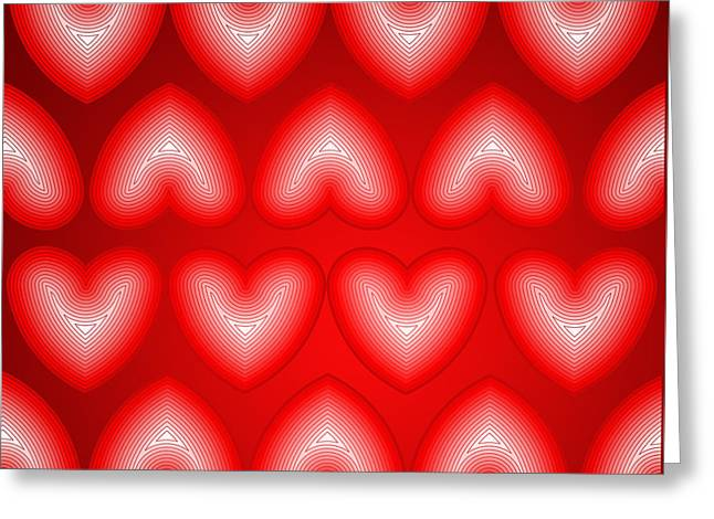 Finger Print Hearts Greeting Card by Soran Shangapour