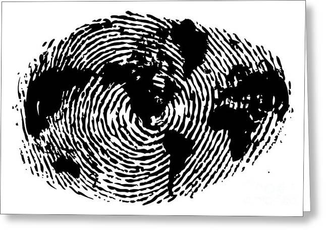 fingerprint 20X30 Greeting Card