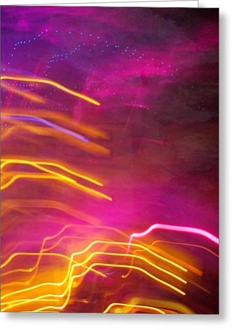 Fingers Of Light Greeting Card by Lessandra Grimley