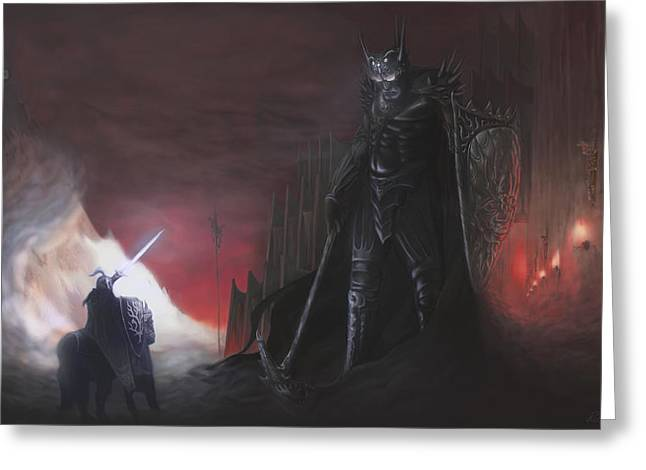 Fingolfins Final Fight Greeting Card