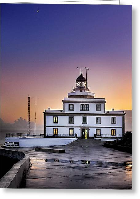 Finisterre Lighthouse Greeting Card by Hernan Bua