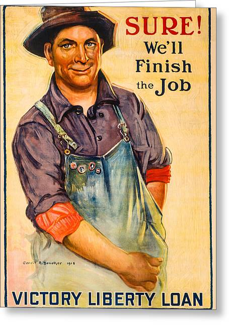 Finish The Job Greeting Card by David Letts
