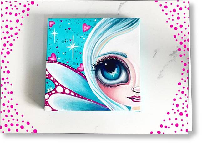 Finished! Little 6x6 Painting Greeting Card by Jaz Higgins