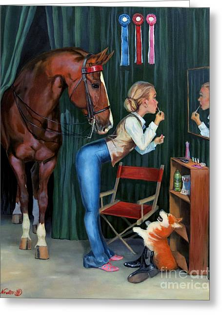 Finishing Touches Greeting Card by Jeanne Newton Schoborg