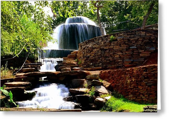 Greeting Card featuring the photograph Finlay Park Columbia Sc Summertime by Lisa Wooten