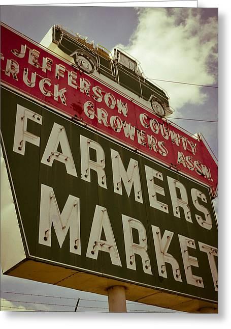 Finley Ave Farmer's Market Greeting Card
