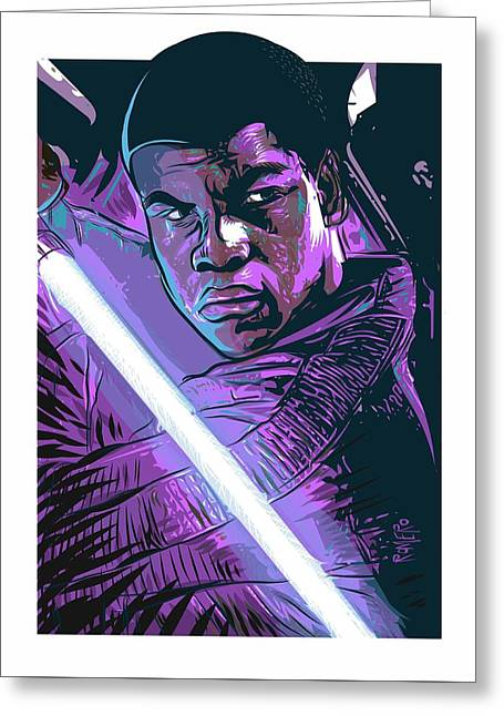 Greeting Card featuring the digital art Finn by Antonio Romero